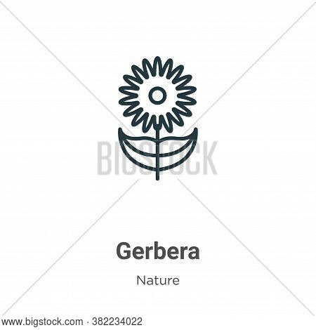 Gerbera icon isolated on white background from nature collection. Gerbera icon trendy and modern Ger