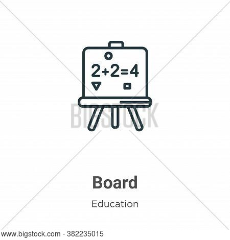 Board icon isolated on white background from education collection. Board icon trendy and modern Boar