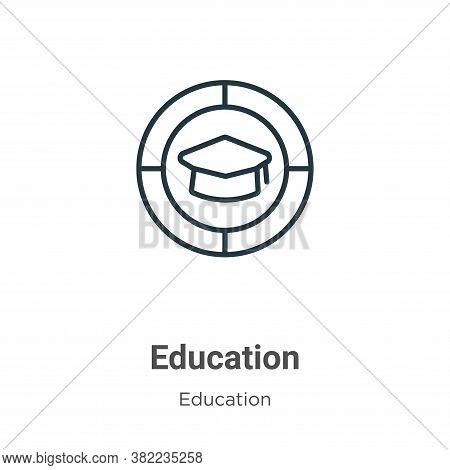 Education icon isolated on white background from education collection. Education icon trendy and mod