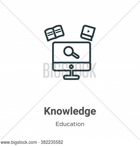 Knowledge icon isolated on white background from online learning collection. Knowledge icon trendy a