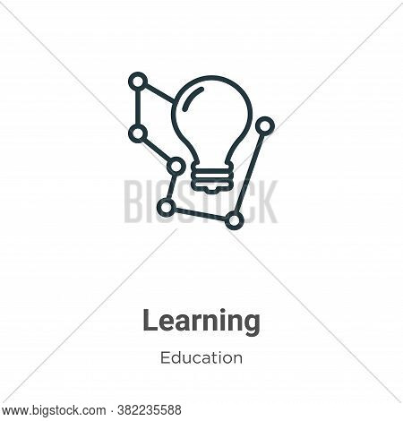 Learning icon isolated on white background from education collection. Learning icon trendy and moder