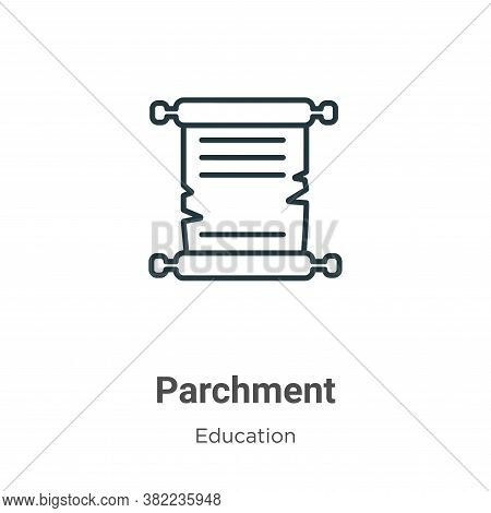 Parchment icon isolated on white background from online learning collection. Parchment icon trendy a