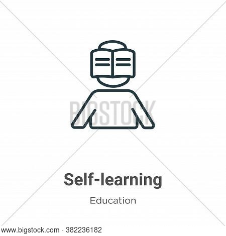 Self-learning icon isolated on white background from education collection. Self-learning icon trendy