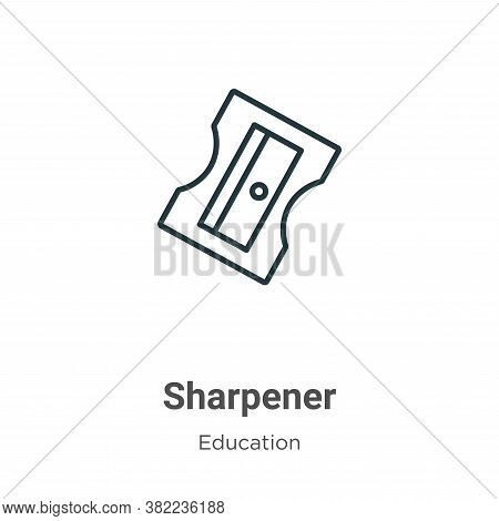 Sharpener icon isolated on white background from education collection. Sharpener icon trendy and mod
