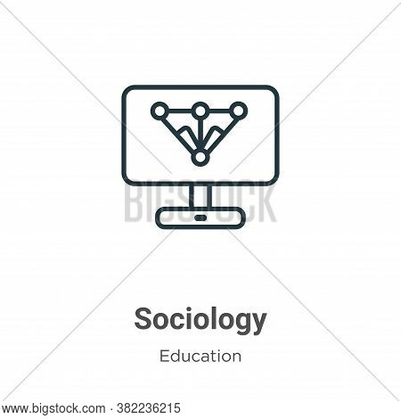 Sociology icon isolated on white background from online learning collection. Sociology icon trendy a
