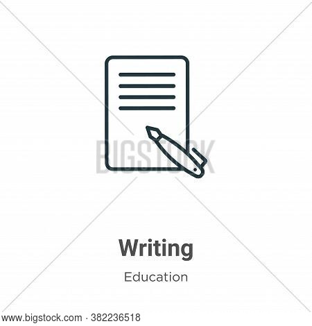 Writing icon isolated on white background from education collection. Writing icon trendy and modern
