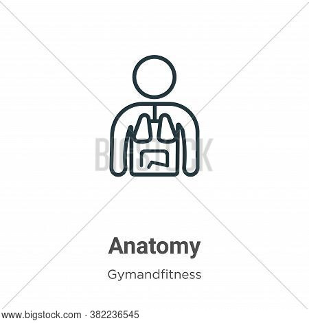 Anatomy icon isolated on white background from gym and fitness collection. Anatomy icon trendy and m