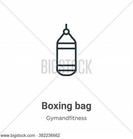 Boxing bag icon isolated on white background from gym and fitness collection. Boxing bag icon trendy