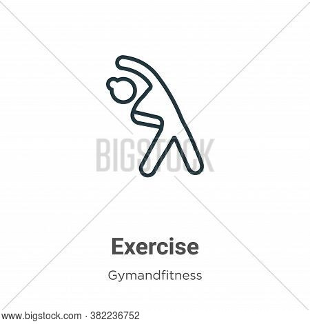 Exercise icon isolated on white background from gym and fitness collection. Exercise icon trendy and