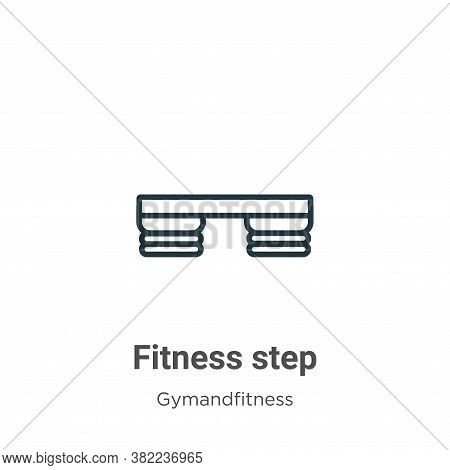 Fitness step icon isolated on white background from gym and fitness collection. Fitness step icon tr
