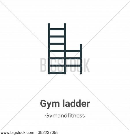 Gym ladder icon isolated on white background from gym and fitness collection. Gym ladder icon trendy