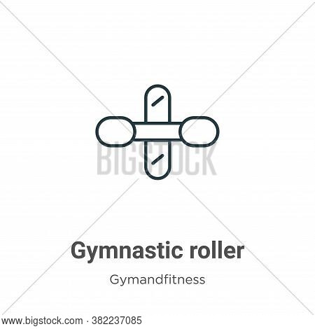 Gymnastic roller icon isolated on white background from gym and fitness collection. Gymnastic roller