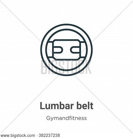 Lumbar Belt Icon From Gymandfitness Collection Isolated On White Background.