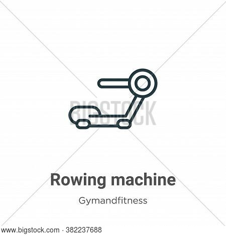 Rowing machine icon isolated on white background from gymandfitness collection. Rowing machine icon