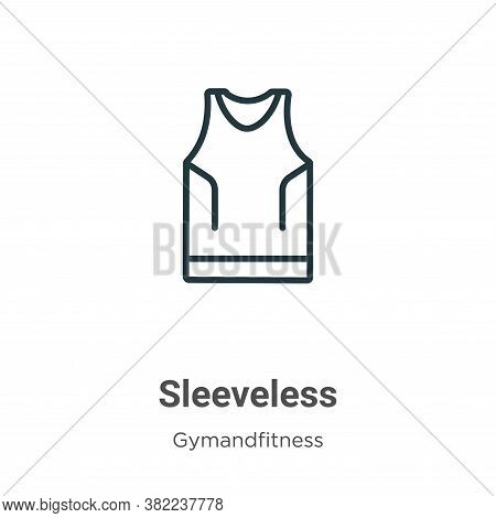 Sleeveless icon isolated on white background from gymandfitness collection. Sleeveless icon trendy a