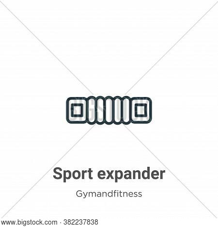 Sport expander icon isolated on white background from gymandfitness collection. Sport expander icon