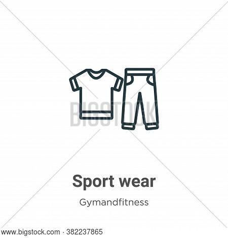 Sport wear icon isolated on white background from gymandfitness collection. Sport wear icon trendy a