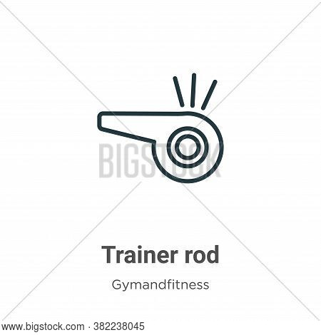 Trainer rod icon isolated on white background from gymandfitness collection. Trainer rod icon trendy
