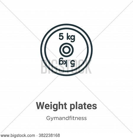 Weight plates icon isolated on white background from gymandfitness collection. Weight plates icon tr