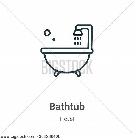 Bathtub icon isolated on white background from hotel collection. Bathtub icon trendy and modern Bath