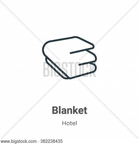 Blanket icon isolated on white background from hotel collection. Blanket icon trendy and modern Blan