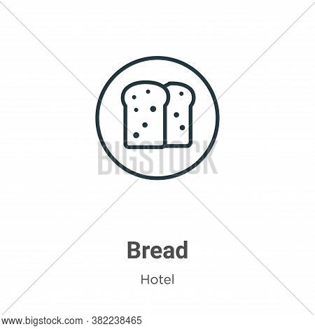 Bread icon isolated on white background from restaurant collection. Bread icon trendy and modern Bre