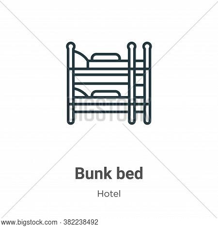 Bunk bed icon isolated on white background from hotel collection. Bunk bed icon trendy and modern Bu