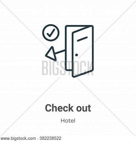 Check out icon isolated on white background from hotel collection. Check out icon trendy and modern