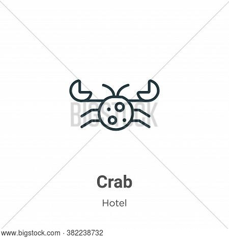 Crab icon isolated on white background from restaurant collection. Crab icon trendy and modern Crab