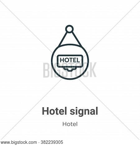 Hotel signal icon isolated on white background from hotel collection. Hotel signal icon trendy and m