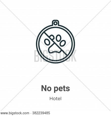 No pets icon isolated on white background from hotel collection. No pets icon trendy and modern No p