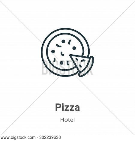 Pizza icon isolated on white background from restaurant collection. Pizza icon trendy and modern Piz