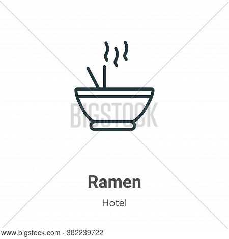 Ramen icon isolated on white background from restaurant collection. Ramen icon trendy and modern Ram