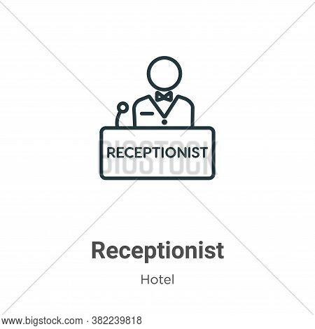 Receptionist icon isolated on white background from hotel collection. Receptionist icon trendy and m