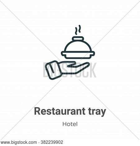 Restaurant tray icon isolated on white background from restaurant collection. Restaurant tray icon t