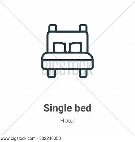 Single bed icon isolated on white background from hotel collection. Single bed icon trendy and moder