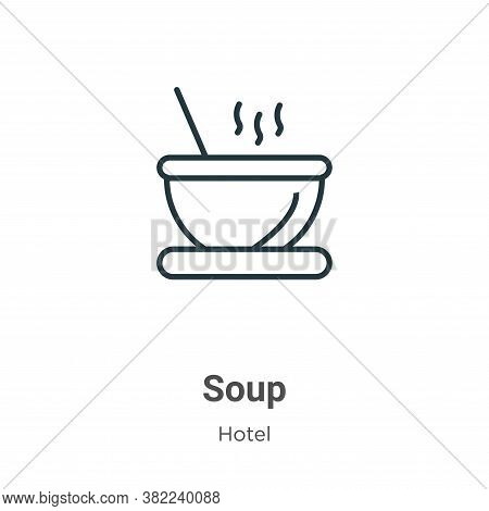 Soup icon isolated on white background from restaurant collection. Soup icon trendy and modern Soup