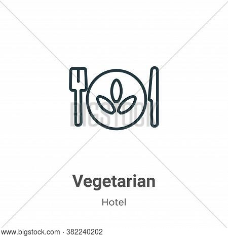 Vegetarian icon isolated on white background from restaurant collection. Vegetarian icon trendy and