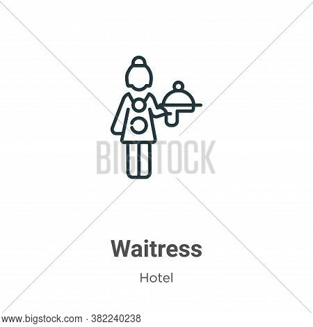Waitress icon isolated on white background from restaurant collection. Waitress icon trendy and mode