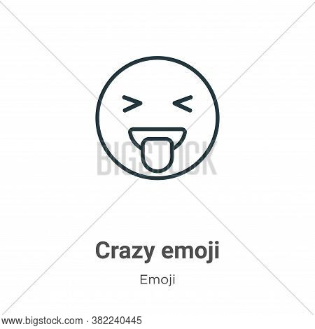 Crazy emoji icon isolated on white background from emoji collection. Crazy emoji icon trendy and mod