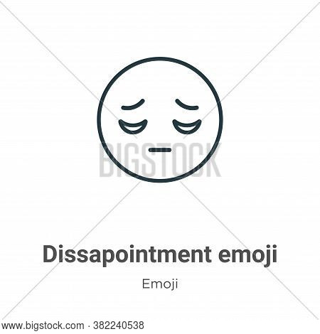 Dissapointment emoji icon isolated on white background from emoji collection. Dissapointment emoji i