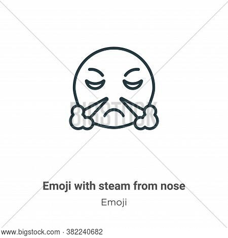 Emoji with steam from nose icon isolated on white background from nose icon from nose icon from emoj
