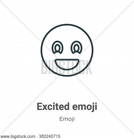 Excited emoji icon isolated on white background from emoji collection. Excited emoji icon trendy and
