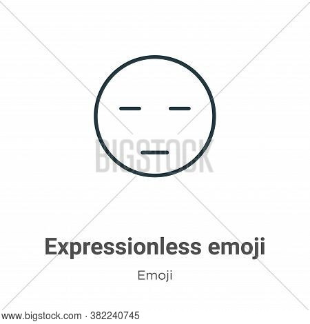 Expressionless emoji icon isolated on white background from emoji collection. Expressionless emoji i
