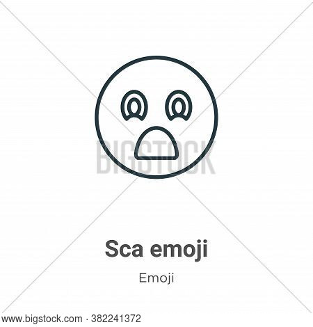 Scared emoji icon isolated on white background from emoji collection. Scared emoji icon trendy and m