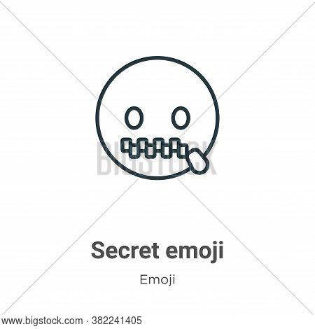 Secret emoji icon isolated on white background from emoji collection. Secret emoji icon trendy and m