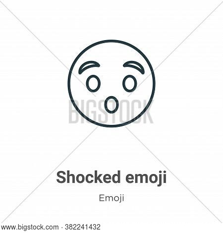 Shocked emoji icon isolated on white background from emoji collection. Shocked emoji icon trendy and