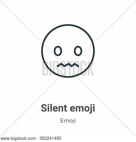 Silent emoji icon isolated on white background from emoji collection. Silent emoji icon trendy and m