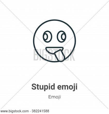 Stupid emoji icon isolated on white background from emoji collection. Stupid emoji icon trendy and m
