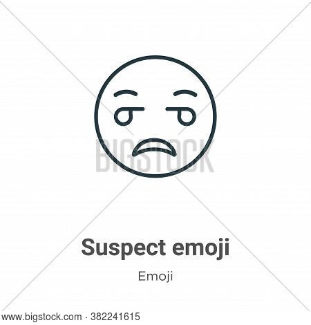 Suspect emoji icon isolated on white background from emoji collection. Suspect emoji icon trendy and
